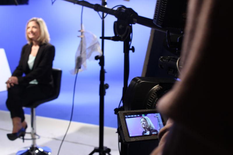 Tournage caméra durant un media training